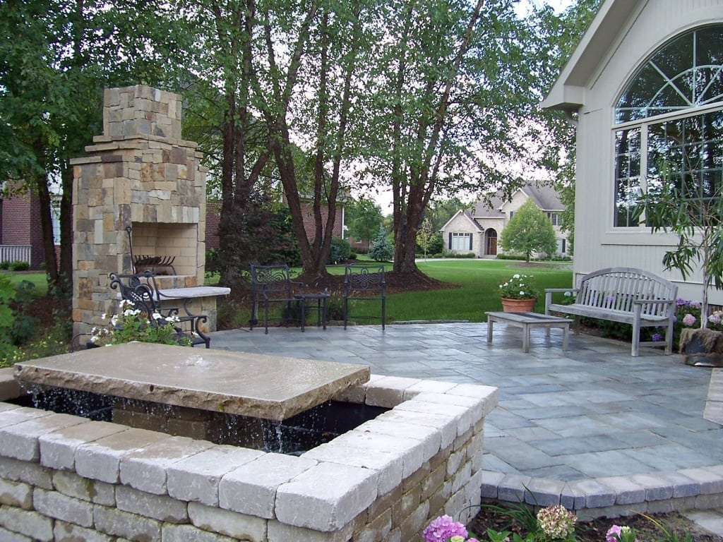 Cleaned and repaired paver rescue patio
